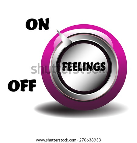 Pink feelings switcher isolated on a white background - stock vector