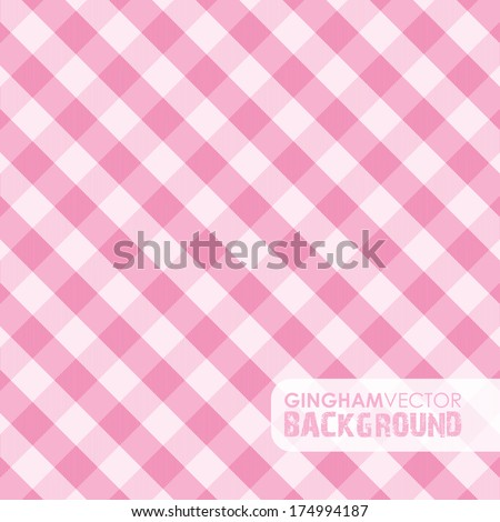 pink gingham background - stock vector