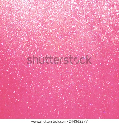 Pink glitter texture background. Traced vector abstract hand painted illustration, eps10. Design card with sparkles. Decorative metallic wallpaper. - stock vector