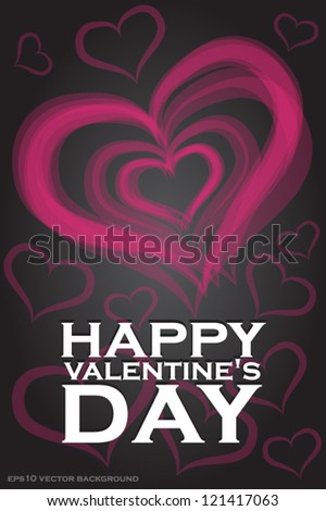 Pink Heart. Valentines day card. Vector eps 10 background - stock vector