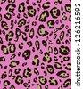 Pink leopard skin seamless pattern - stock vector