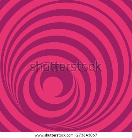 pink Op Art Circles  - stock vector