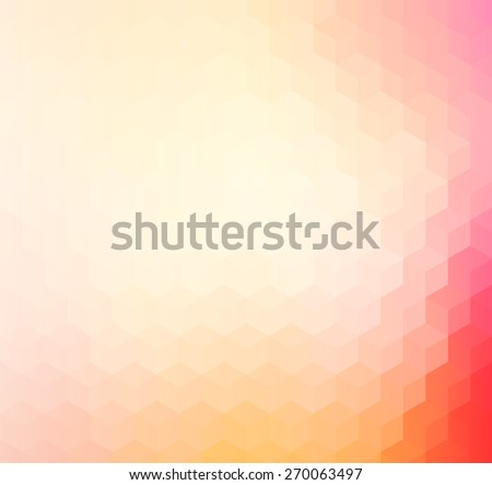 Pink, orange and red colored geometric pattern background - stock vector