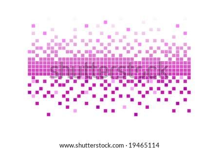 pink pixels - stock vector