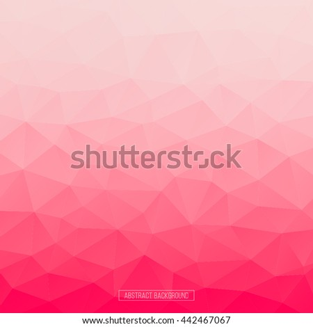 Pink polygon pattern. hexagon background. triangle background, Design element. Business card. - stock vector