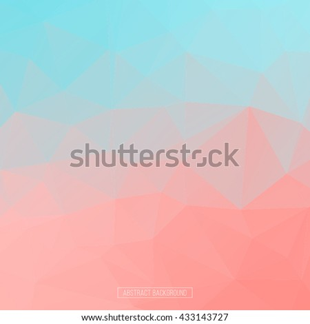 Pink polygon pattern. hexagon background. triangle background, Design element. Sweet template - stock vector