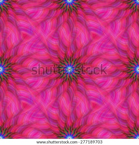 Pink repeating fractal pattern design - stock vector