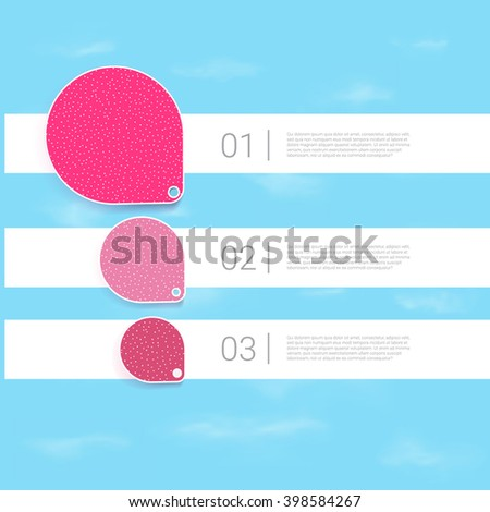 Pink, Rounded Placeholder Elements - stock vector