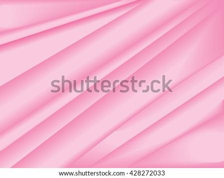 Pink silk texture. Satin, smooth textile abstract vector background - stock vector