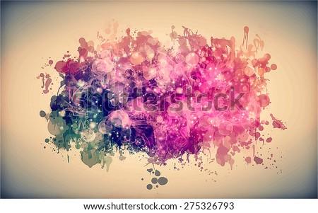 Pink smoky cloud. Vector version - stock vector