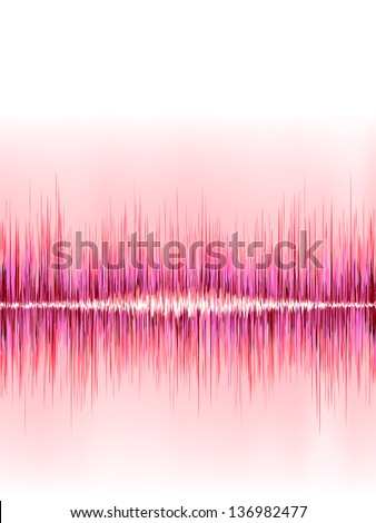 Pink sound wave on white background. + EPS8 vector file - stock vector