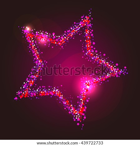 Pink star illustration - stock vector