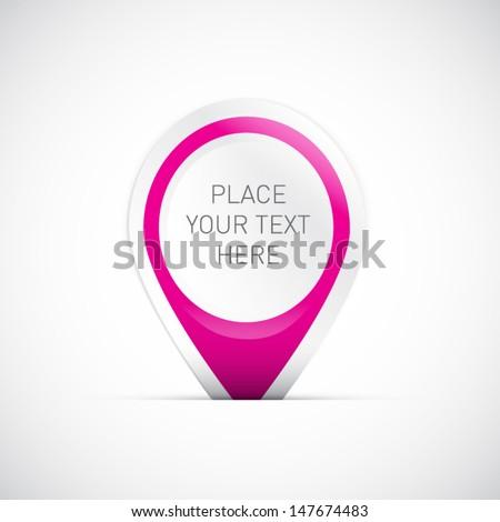 Pink Vector Label - stock vector