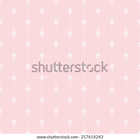 pink wallpaper in old style for your design, image vector - stock vector