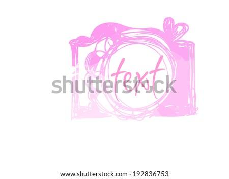 pink watercolor camera icon vector file - stock vector