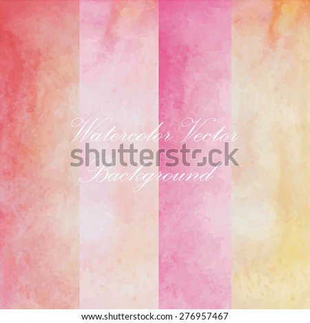 pink yellow light paint watercolor vintage and isolate on white background in love summer wedding card. - stock vector