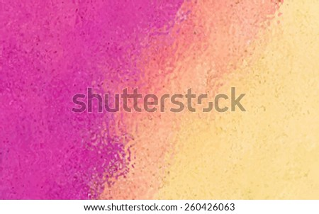 Pink yellow watercolor hand drawn abstract glass banner. Wash brush painted paper texture vector illustration. Water stylized smudges design card for background, scrapbook, template, decor, art, print - stock vector