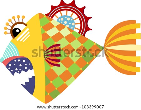 piranha graphic vector illustration of isolated on white background - stock vector