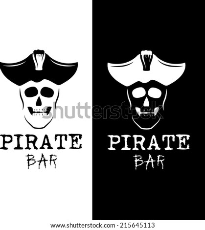 pirate bar illustration - stock vector