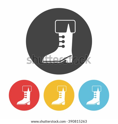 pirate boot icon - stock vector