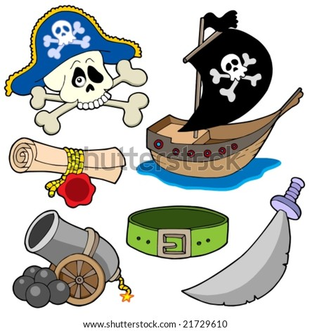 Pirate collection 3 - vector illustration. - stock vector