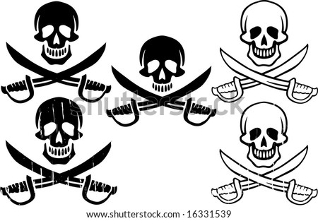 Pirate Flag - stock vector