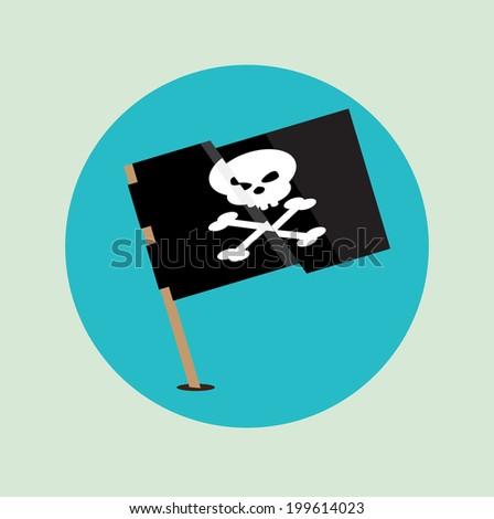 pirate flag flag design - stock vector