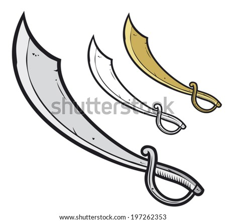 pirate sabre (pirate sword)    - stock vector