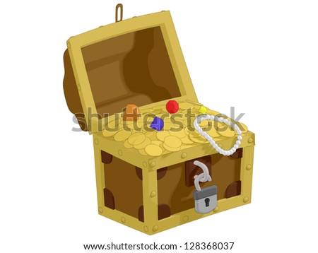 Pirate Treasure - stock vector