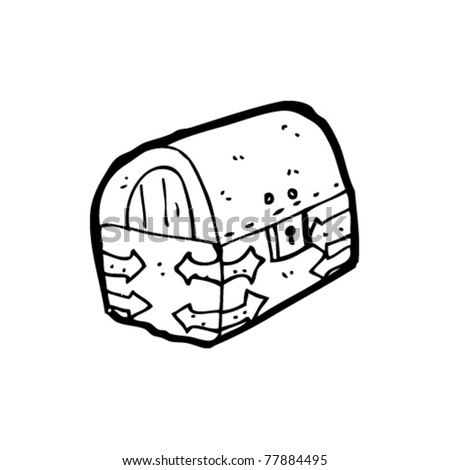 pirate treasure chest cartoon - stock vector