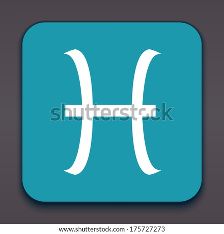 Pisces. Horoscope signs/symbols. Vector illustration/ EPS 10. Other signs are represented in the my portfolio. - stock vector