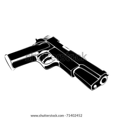 pistol vector - stock vector