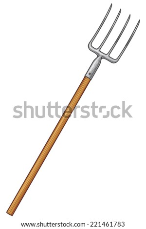 pitchfork tool on a white background vector illustration - stock vector