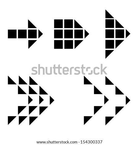 pixel arrow design. vector illustration design - stock vector