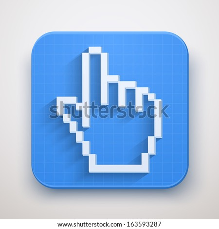 Pixel cursor icons mouse click hand. Vector Illustration for Web and Mobile Application. Premium design. - stock vector