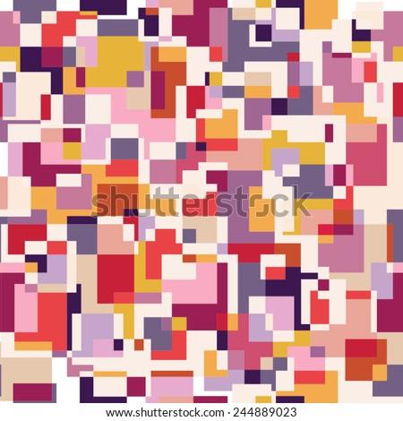 Pixel seamless pattern. - stock vector