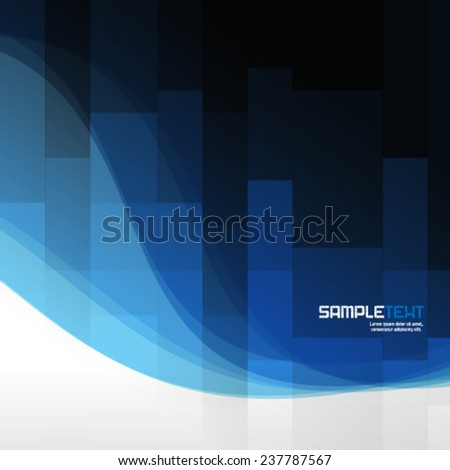 Pixelated Effect and Curve Lines Modern Concept Background - stock vector