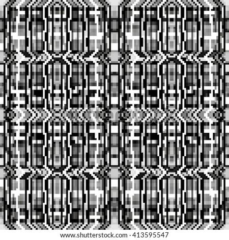 pixels beautiful abstract geometric seamless pattern vector illustration - stock vector