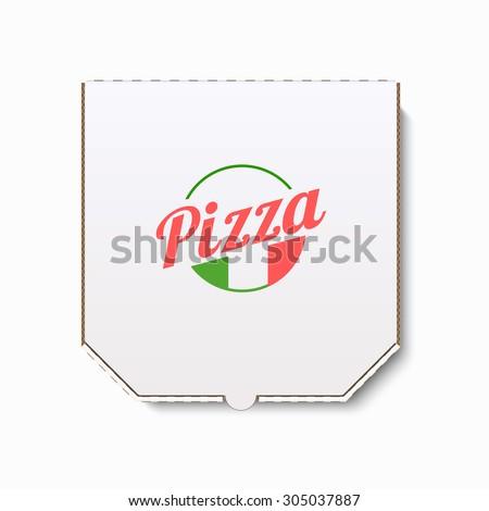 Pizza box. Realistic vector illustration - stock vector