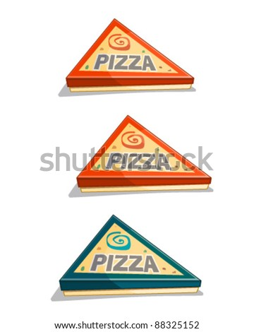 Pizza Carton - stock vector