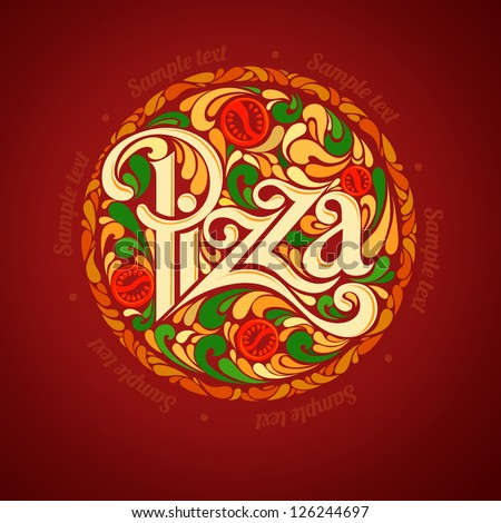 Pizza design template - stock vector