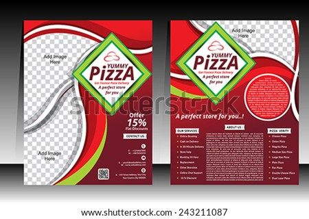 Pizza Flyer design template vector illustration  - stock vector
