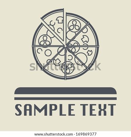 Pizza icon or sign, vector illustration - stock vector
