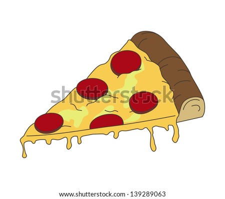 pizza isolated - stock vector