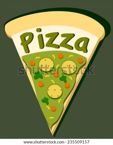 pizza pie - stock vector