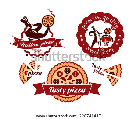 Pizza. Vector format - stock vector
