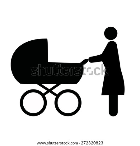 place to walk with strollers - stock vector