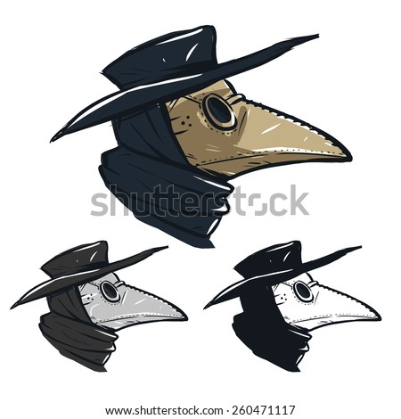 Plague doctor mask template free