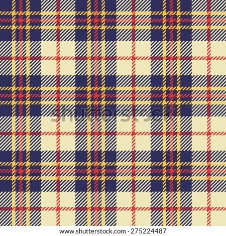 Plaid fashion wallpaper vector seamless pattern - stock vector