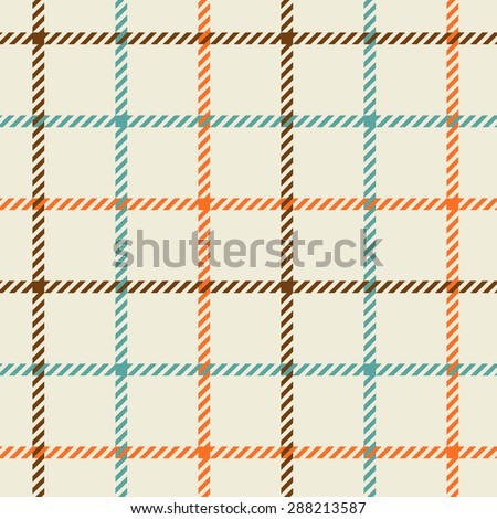 Plaid fashion wallpaper vector seamless pattern - stock vector